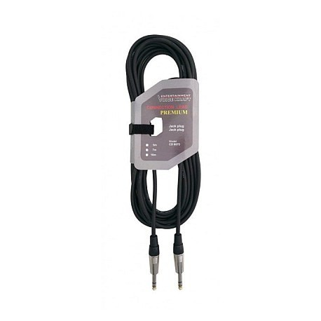 8075-1 Kabel wtyk 6,3 stereo - wtyk 6,3 stereo VK8075 1m