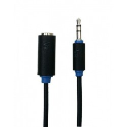 """7400-150 kabelis VK 7400 1,5 m 3,5 mm kištukas - 3,5 mm stereofoninis """"Black Audio"""" lizdas"""