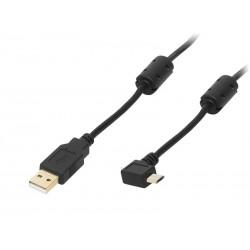 66-090 USB jungtis A - mikro B 1.0m juodas auksas