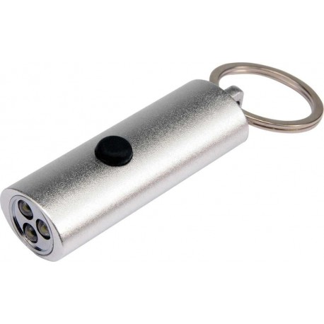 TG-68737 Raktų pakabukas su žibintuvėliu, 3 led, sidabras