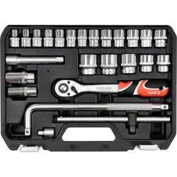 """YT-38741 Zestaw narzędziowy 1/2"""", 25 części, L"""