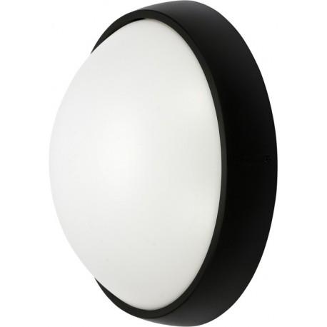YT-81840 LED lauko sieninė lempa 15W juoda apvali