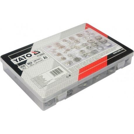 YT-06865 300 sztuk podkładek aluminiowych mix
