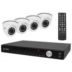 78-837 DVR rinkinys + 4 kameros + BL-KTAHD04A jungiamieji laidai