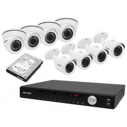 """78–833 """"NVR 8"""" kamerų rinkinys + įrašymo įrenginys + 2 TB BL-KITNVR08"""