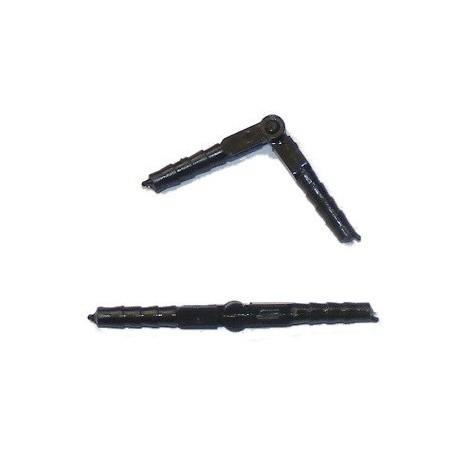 Cilindrų vyriai su 3,5 x 48mm lazda, juoda (6 vnt.)