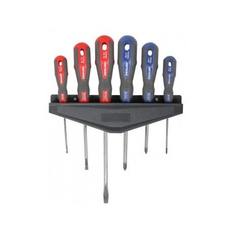 10207 Zestaw wkrętaków CrV-Mo, Soft-touch, 6 elementów, Proline