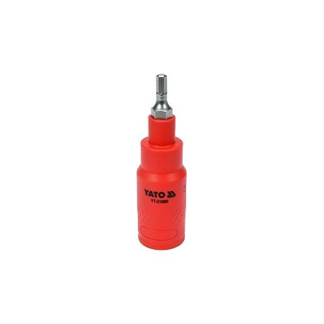 YT-21080 Izolowany klucz trzpieniowy hex 4x75mm 3/8 cala VDE