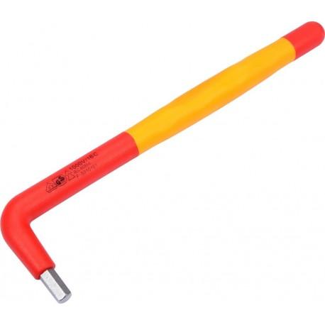 YT-21123 Izolowany klucz sześciokątny L 6mm VDE