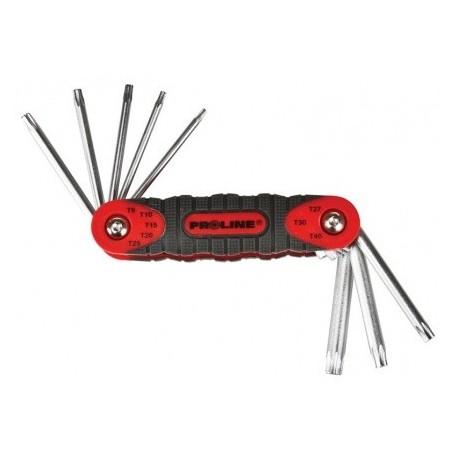 48367 Klucze imbusowe hex CrV zestaw 7 elementów, 2-10mm, Proline