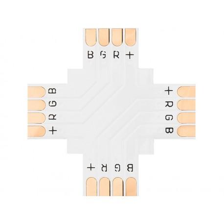 "4885 Konektor do taśm Led typu ""+"" 10mm RGB"
