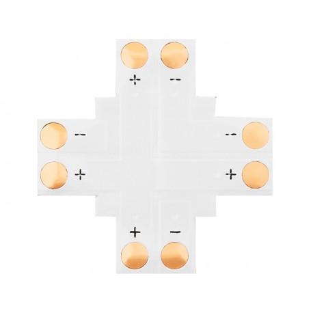 "4882 Konektor do taśm LED typu ""+"" 8mm 2pin"