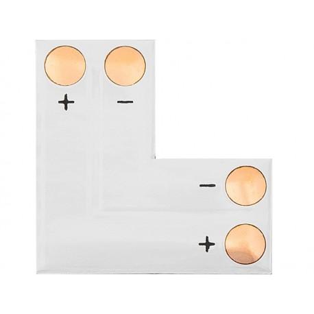 """4909 Konektor do taśm LED typu """"L"""" 10mm 2pin"""