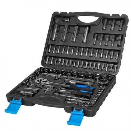 58094 Zestaw 94 elementów nasadek i końcówek 1/2 1/4cala, 4-32mm