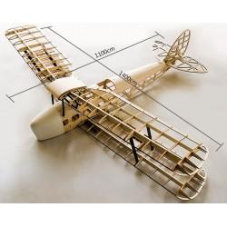 Samolot Tiger Moth Balsa KIT (1400mm)