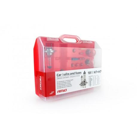 01497 Zestaw żarówek i bezpieczników 19 sztuk (2xH4)