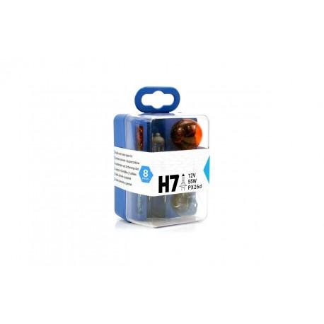 01499 Zestaw żarówek i bezpieczników 8 sztuk H7