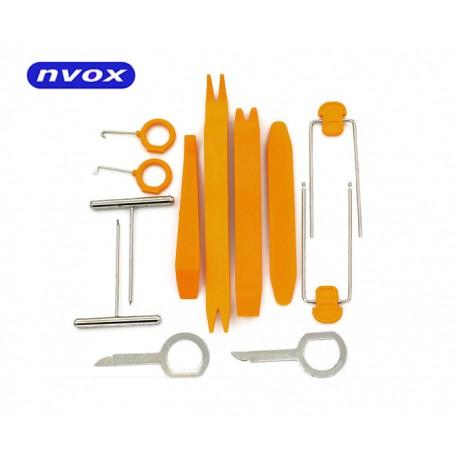 Zestaw narzędzi do wyciągania radii, montażu/demontażu elementów plastikowych i kokpitu... (NVOX