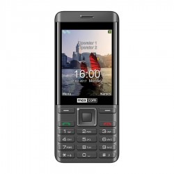 MM 236 juoda ir sidabrinė Mobilusis telefonas Dual SIM Maxcom