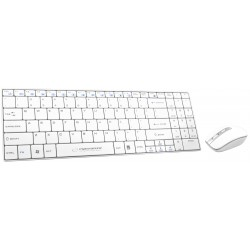 EK122W Zestaw bezprzewodowy klawiatura + mysz 2.4GHz USB Liberty biały