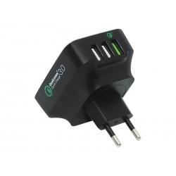 76-001 Tinklo įkroviklis 3 x USB Qualcomm 3.0