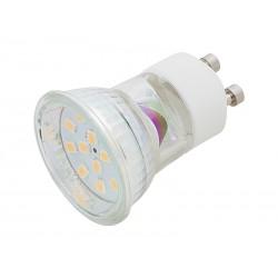87-197 LED lemputė MR11 GU10 3W šviesiai balta šilta
