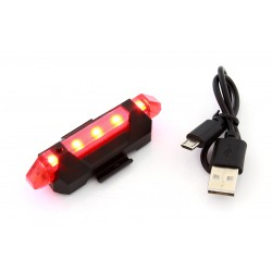 ZD41A Dviračių lempa galinė 5 LED