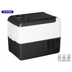 Turistinis šaldytuvas automobilių 22L kompresorius 12V 24V 230V... (NVOX K22Y)