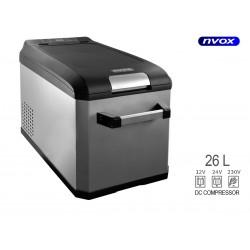 Automobilinis šaldytuvas 26L su kompresoriumi 12V 24V 230V NVOX K26F