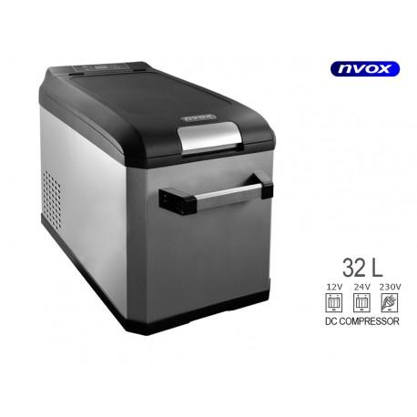 Turistinis šaldytuvas automobilių 32l kompresorius 12v 24v 230v
