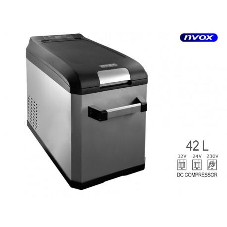 Automobilio kelioninis šaldytuvas 42l kompresorius 12v 24v 230v