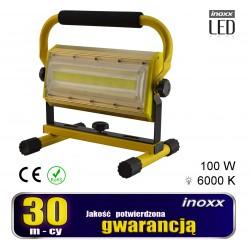 Nešiojamas LED šviesos ekranas 100w 6000k aku/ 230v