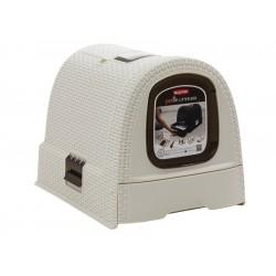 Toaleta dla kota Curver Pet Life kremowa