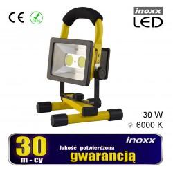 Nešiojamasis LED eksponatorius 30w 6000k aku/ 230v
