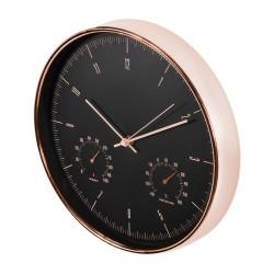 """Auksinis sieninis laikrodis 12 """"30cm su termometru ir higrometru CE70 G"""