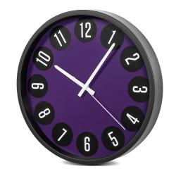 """Sieninis laikrodis juodas ir purpurinis 14 """"35cm CE50 B"""