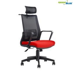 Ergonomiška biuro kėdė reguliuojamas galvos atrama ir nugaros atrama, GreenBlue HANGER GB180