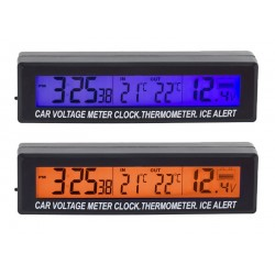 AG97A Termometras / laikrodis / voltmetras 3in1
