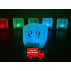 ALARMLOCK CHAMELEON SHINING • THERMOMETER • energiją taupanti • fluorescencines spalvos • didelis kontrastas • aiškus LCD ekrana