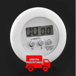 ELEKTRONINIS Kepimo laikmatis • su magnetu • 6,5 x 2 cm • 40 g • atstatymo funkcija ir atbulines eigos sustabdymas • maks. matav