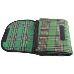 Neperšlampamas papludimio kilimeliu iškylu antklode 145x180 žalia 2452