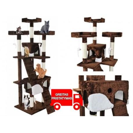 "Kates kačiukai ""Scratching Tree Tube"" ""Pramogos"" Animal House Scratcher ""170cm 2779"