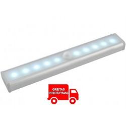 LED lempute su judesio detektoriumi
