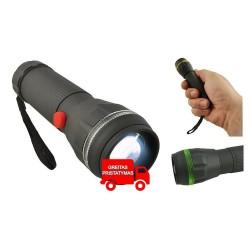 Lemputes LED žibintuvelis 3W Zoom Mažas kompaktiškas ryškus automobilinis stovyklavimo darbas 3xAAA
