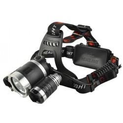 Lempute 3 LED 3800Lm ikraunamas komplektas 12V + 220V 4 režimai Vienvietis + mirksintis