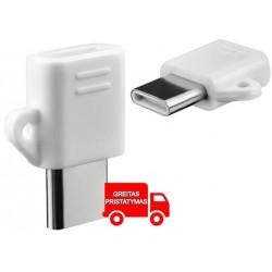 """""""Micro USB"""" adapteris """"USB-C"""" standartinis 3.0 / 3.1 Mažas greitas """"Win Mac"""" """"Android"""""""