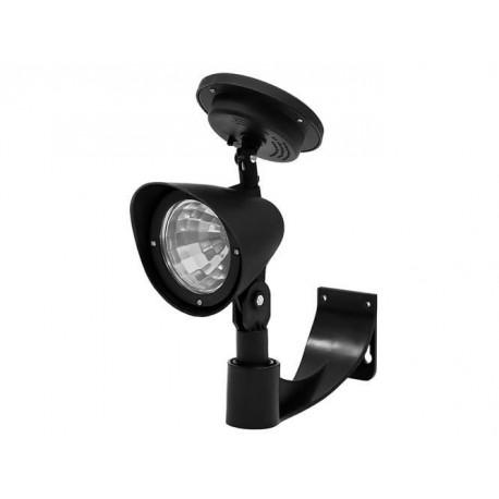 Saules lempos šviestuvas 3 LED juodas 200mAh 1Watt Greitas montavimas Twilight sensoras 7034