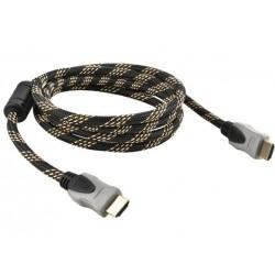 HDMI kabelis 2.0 Ethernet 4K aukso kištukas ilgis 3m TV konsole
