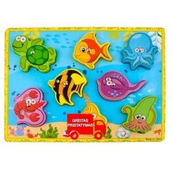 Žvejybos žaidimas Medinis magnetas Žuvis Ankstyvas mokymasis Magnetine žvejyba Žaidimas Gimtadienio dovanos Medinis žaislinis ža