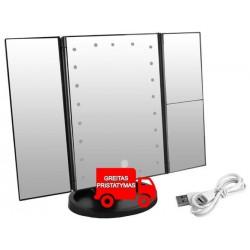 p Didelis veidrodinis kosmetinis apšvietimas 22LED 2x 3x 7870 /p